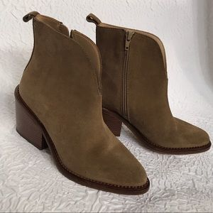 Zara trafaluc suede brown ankle boots sz 7
